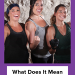 Three women working out in the gym