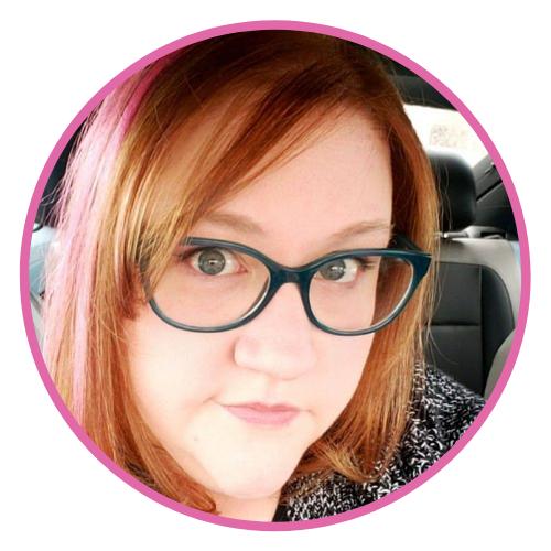 A selfie of Linda wearing blue glasses